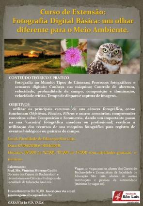 Curso de extensão em Fotografia Digital Básica acontece em abril!