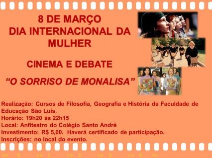 Cursos de Filosofia, História e Geografia promovem debate no Dia Internacional da Mulher.