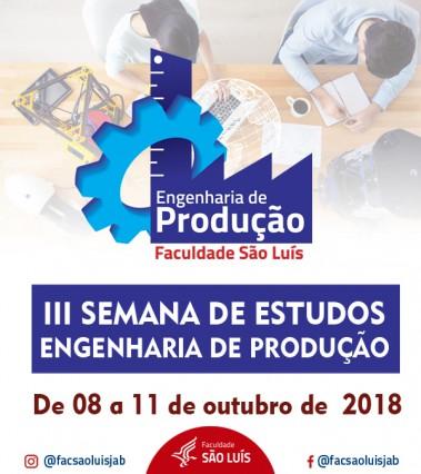 III Semana de Estudos do Curso de Engenharia de Produção