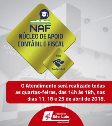 NAF realiza atendimento ao Contribuinte!