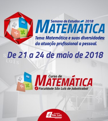 Semana da Matemática acontece de 21 a 24 de maio!