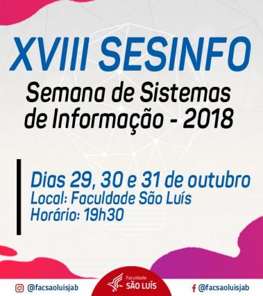 XVIII SESINFO - 2018