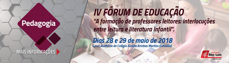 IV Fórum de Educação