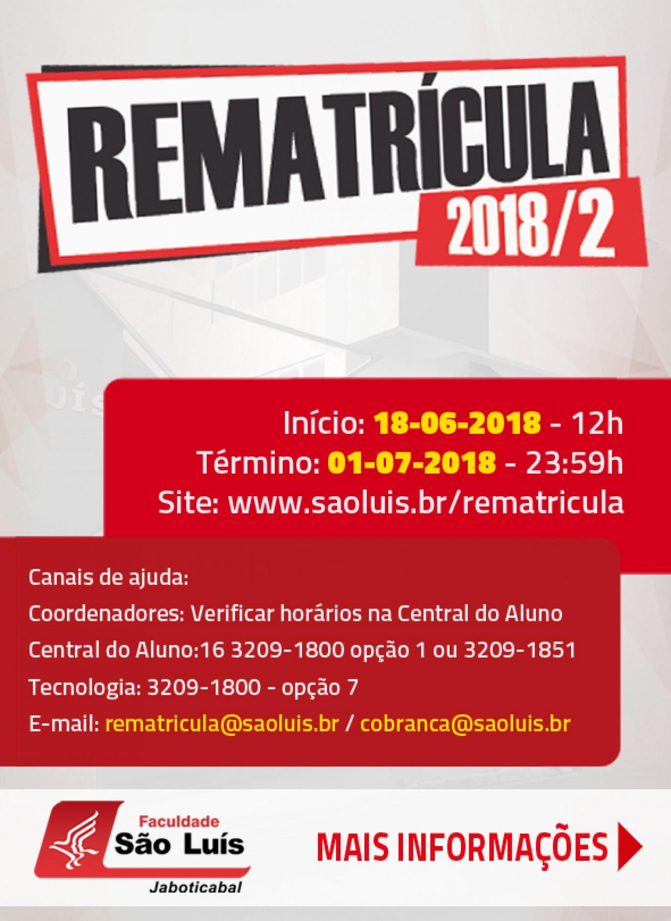Rematrícula 2018/2