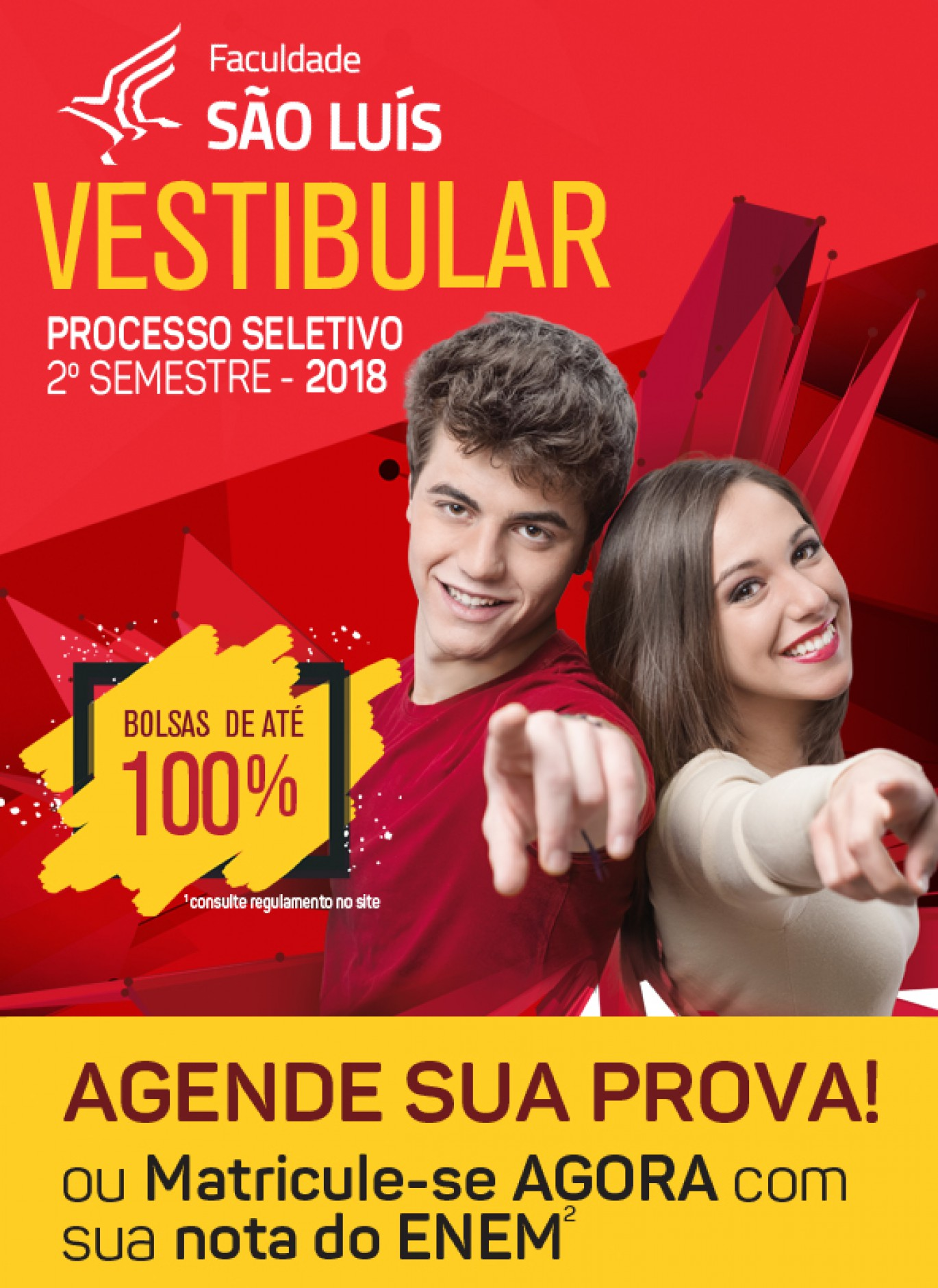 Vestibular 2018 - 2º Semestre - PROVA AGENDADA