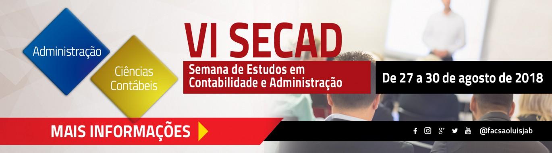 VI SECAD - 2018