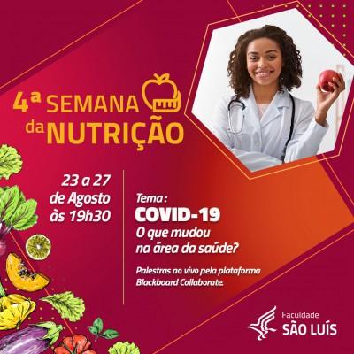 4ª Semana de Estudos do Curso de Nutrição