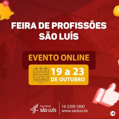 1ª Feira de Profissões Online da Faculdade São Luís