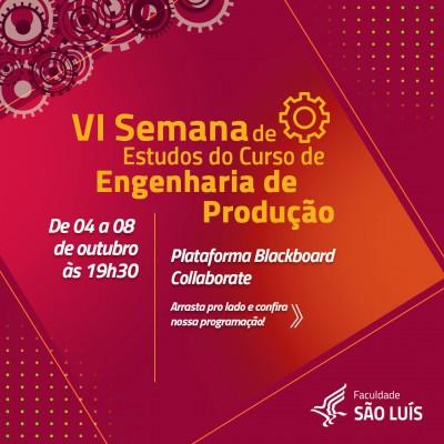 6ª SEMANA DE ESTUDOS DE ENGENHARIA DE PRODUÇÃO