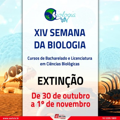 XVI Semana de Biologia.