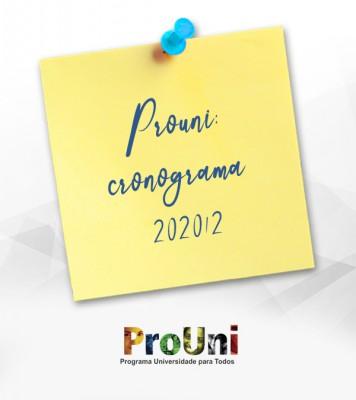 Cronograma de inscrições do Prouni 2020/2