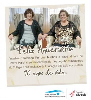 Fundadoras da Faculdade São Luís comemoram 90 anos de vida.
