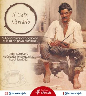 IV Café Literário do Curso de Letras
