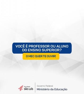 MEC quer ouvir alunos e professores do ensino superior sobre as substituições de aulas presenciais em tempos de Covid-19