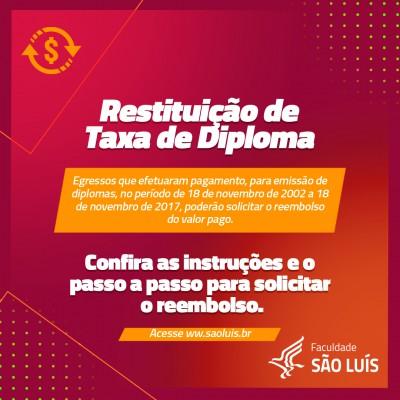 Restituição de Taxa de Diploma