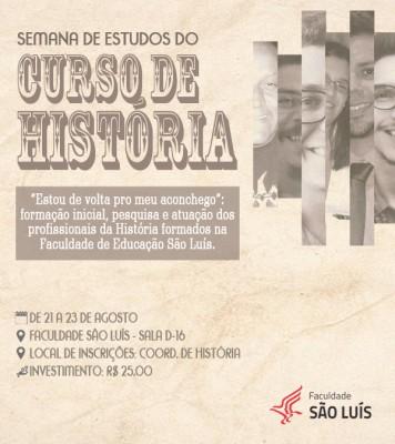 Semana de Estudos do Curso de História 2019
