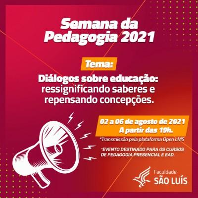 Semana de Estudos do Curso de Pedagogia 2021