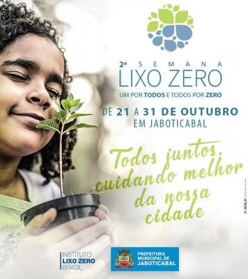 Semana Lixo Zero - de 21 a 31 de outubro de 2019