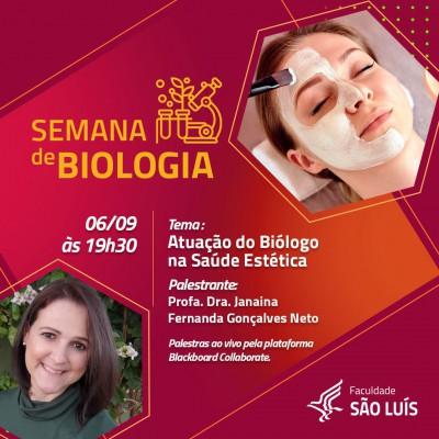 Palestra: Atuação do Biólogo na Saúde Estética