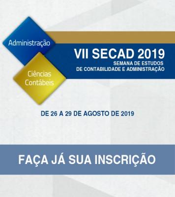 VII SECAD - Semana de Estudos dos Cursos de Contabilidade e Administração