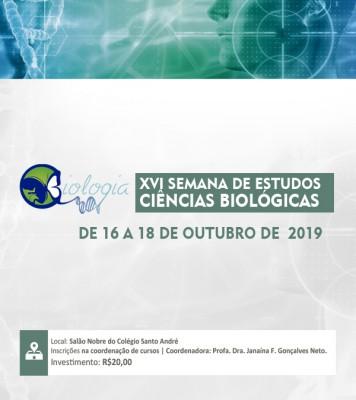 XVI Semana de Estudos do Curso de Ciências Biológicas