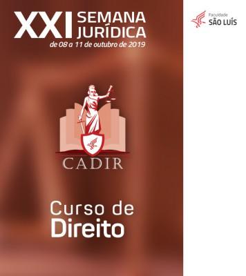 XXI Semana Jurídica  - Curso de Direito